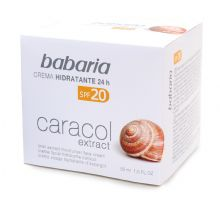 Babaria 24 hour Moisturising Face Cream with Snail Extract SPF20 50ml